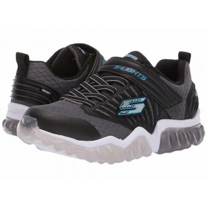 Skechers KIDS Rapid Flash 90720L Lights (Little Kid/Big Kid) Charcoal/Black [Sale]