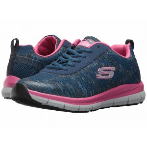 Skechers Work Comfort Flex SR - HC Navy/Pink [Sale]