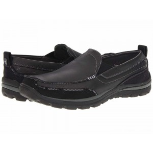 Skechers Relaxed Fit Superior - Gains Black [Sale]