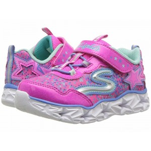 Skechers KIDS Galaxy 10920N Lights (Toddler) Neon Pink/Multi [Sale]