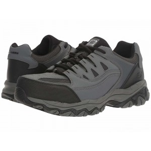 Skechers Work Holdredge Gray Action Leather/Trim [Sale]