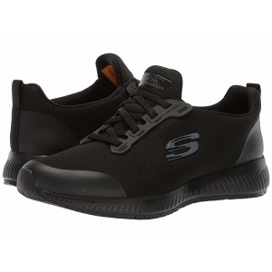 Skechers Work Squad SR Black Flat Knit [Sale]