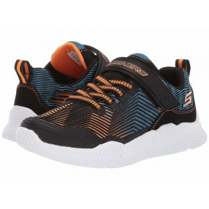 Skechers KIDS Intersectors 98111L (Little Kid/Big Kid) Blue/Black/Orange [Sale]