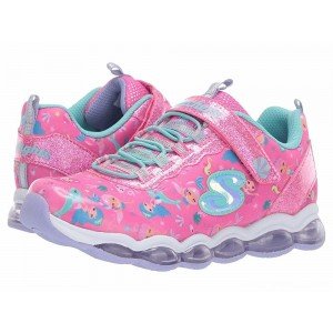 Skechers KIDS Glimmer Lights 20178L (Little Kid/Big Kid) Neon Pink/Multi [Sale]
