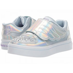 Skechers KIDS Twi-Lites 20120N (Toddler/Little Kid) Silver/Light Blue [Sale]