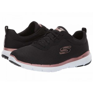 Skechers Flex Appeal 3.0 Black/Rose Gold [Sale]