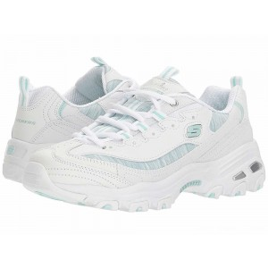 Skechers D'Lites - Water Colors White/Mint [Sale]