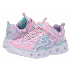 Skechers KIDS Heart 20180L lights (Little Kid/Big Kid) Light Pink/Multi [Sale]