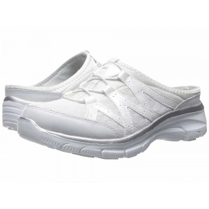 Skechers Easy Going - Repute White/Silver [Sale]
