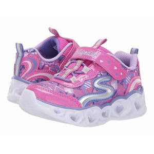 Skechers KIDS Heart 20180N Lights (Toddler) Neon Pink/Multi [Sale]