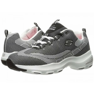 Skechers D'Lite Ultra Black/White [Sale]