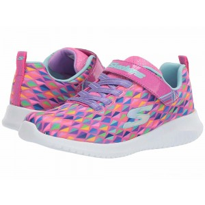 Skechers KIDS Ultra Flex 81544L (Little Kid/Big Kid) Neon Pink/Multi [Sale]