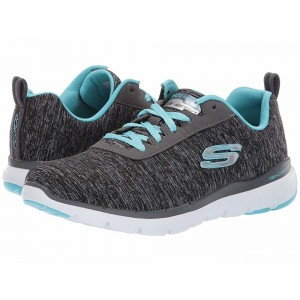 Skechers Flex Appeal 3.0 - Insiders Black/Light Blue [Sale]