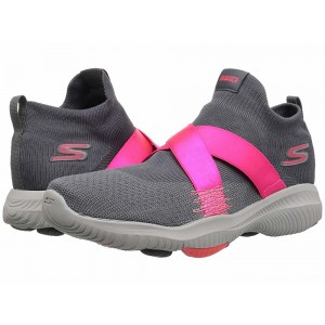 Skechers Performance Go Walk Revolution Ultra Bolt Charcoal/Hot Pink [Sale]