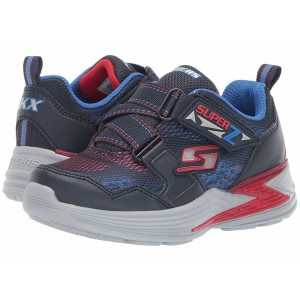 Skechers KIDS Erupters III 90562L Lights (Little Kid/Big Kid) Navy/Red [Sale]
