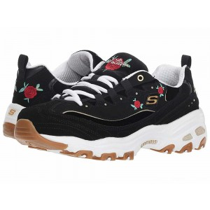 Skechers D'Lite - Rose Blooms Black/White [Sale]