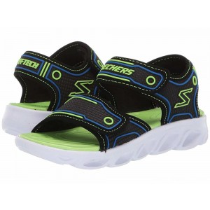 Skechers KIDS Hypno - Splash 90522L (Little Kid/Big Kid) Blue/Black/Lime [Sale]