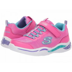 Skechers KIDS Power Petals 20202L (Little Kid/Big Kid) Neon Pink/Multi [Sale]