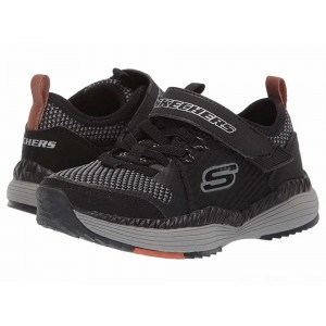 Skechers KIDS Power Drift Interflux 98131L (Little Kid/Big Kid) Black/Gray [Sale]