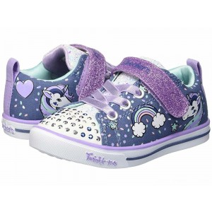 Skechers KIDS Twinkle Toes - Sparkle Lite Unicorn Craze 10988N Lights (Toddler) Denim/Lavendar [Sale]