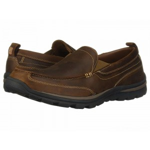Skechers Relaxed Fit Superior - Gains Dark Brown [Sale]
