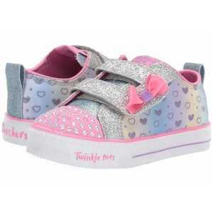 Skechers KIDS Shuffle Lite 20135N (Toddler/Little Kid) Silver/Multi [Sale]