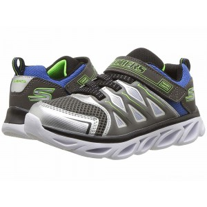 Skechers KIDS Hypno-Flash 3.0 90511L Lights (Little Kid/Big Kid) Silver/Blue [Sale]