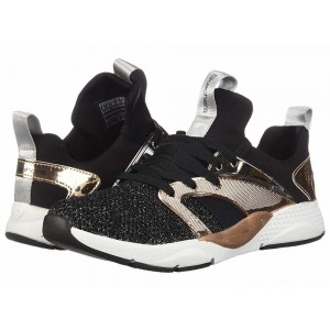 Skechers KIDS Shine Status 84853L (Little Kid/Big Kid) Black/Rose Gold [Sale]