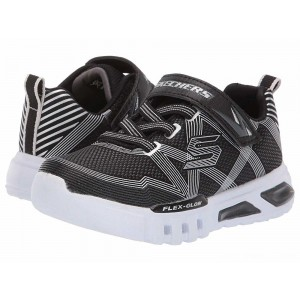 Skechers KIDS Flex-Glow 90542N Lights (Toddler) Black/Charcoal [Sale]