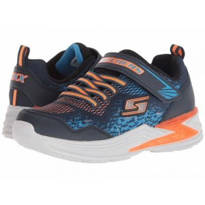 Skechers KIDS Erupters III 90563L Lights (Little Kid/Big Kid) Navy/Orange [Sale]