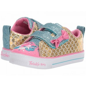 Skechers KIDS Shuffle Lite 20163N (Toddler/Little Kid) Gold/Multi [Sale]