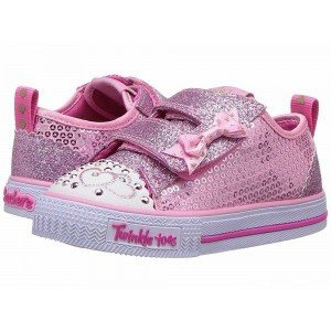 Skechers KIDS Twinkle Toes - Shuffles Itsy Bitsy 10764N Lights (Toddler/Little Kid) Pink [Sale]