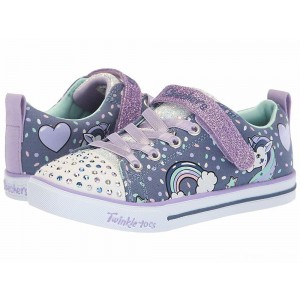 Skechers KIDS Twinkle Toes - Sparkle Lite 10988L Lights (Little Kid/Big Kid) Denim/Lavendar [Sale]