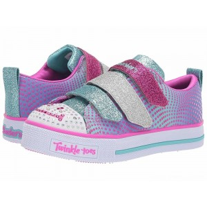 Skechers KIDS Twinkle Lite 20164L (Little Kid/Big Kid) Blue/Multi [Sale]