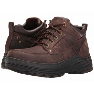 Skechers Relaxed Fit Holdren - Lender Dark Brown Leather [Sale]