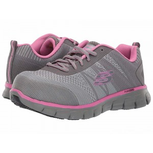 Skechers Work Sure Track - Saquenay Gray/Pink [Sale]