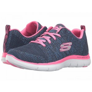 Skechers Flex Appeal 2.0 - High Energy Navy/Pink [Sale]