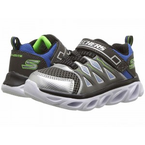 Skechers KIDS Hypno-Flash 3.0 90511N Lights (Toddler) Silver/Blue [Sale]
