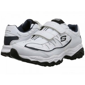 Skechers Afterburn Memory Fit - Final Cut White/Navy [Sale]