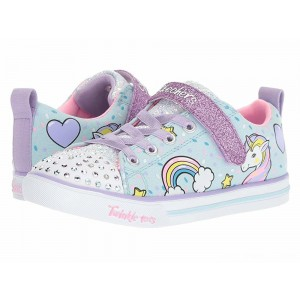 Skechers KIDS Twinkle Toes - Sparkle Lite 10988L Lights (Little Kid/Big Kid) Light Blue/Multi [Sale]