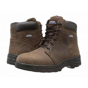 Skechers Work Workshire - Peril Dark Brown Buffalo Crazy Horse Leather [Sale]